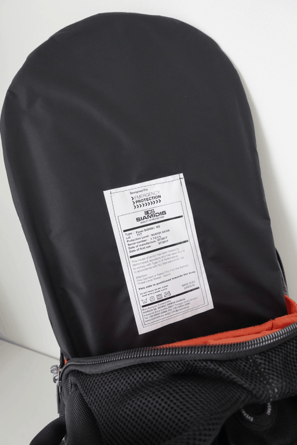 Emergency Protection Ballistic Backpack Insert