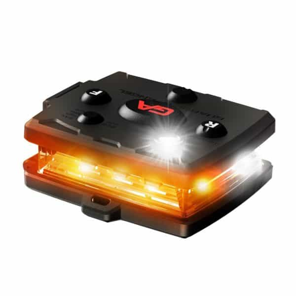 White/Orange Wearable Safety Light