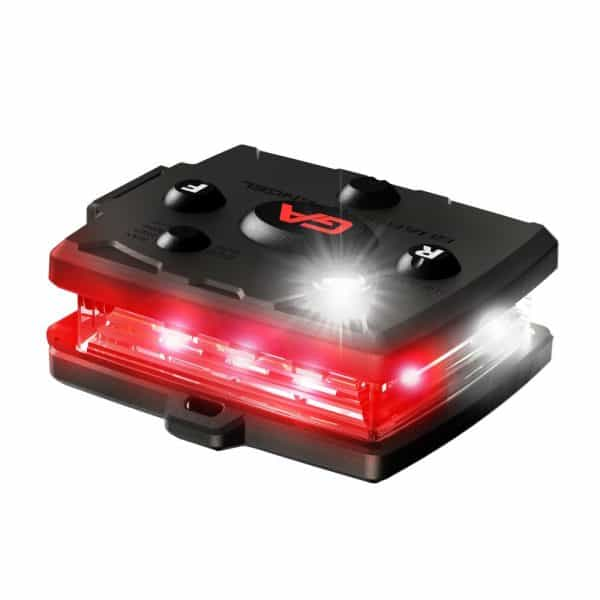 Micro Series White/Red Wearable Safety Light