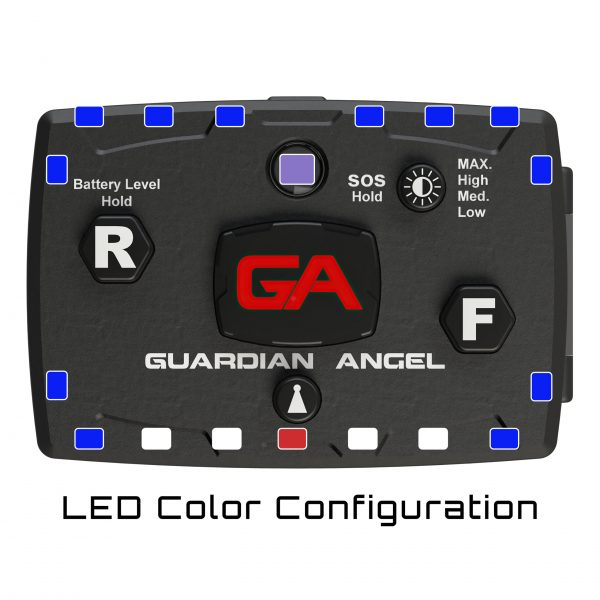 Infrared Hybrid Blue/Blue Wearable Safety Light